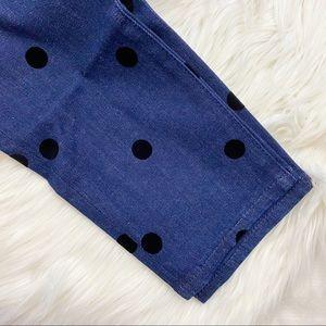 J. Crew Jeans - J. Crew Dark Wash Velvet Dot Skinny Jeans